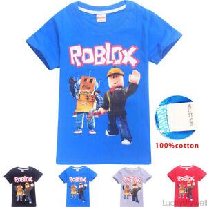 Мальчики девочки roblox Kids мультфильм с коротким рукавом, футболка, топы, повседневная, летняя костюмы