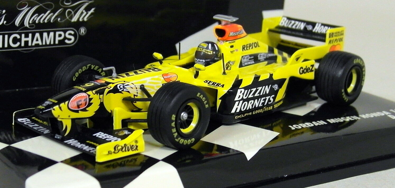 Minichamps 1 43 Scale 430 980009 Jordan Mugen Honda 198 D. Hill Diecast F1 Car