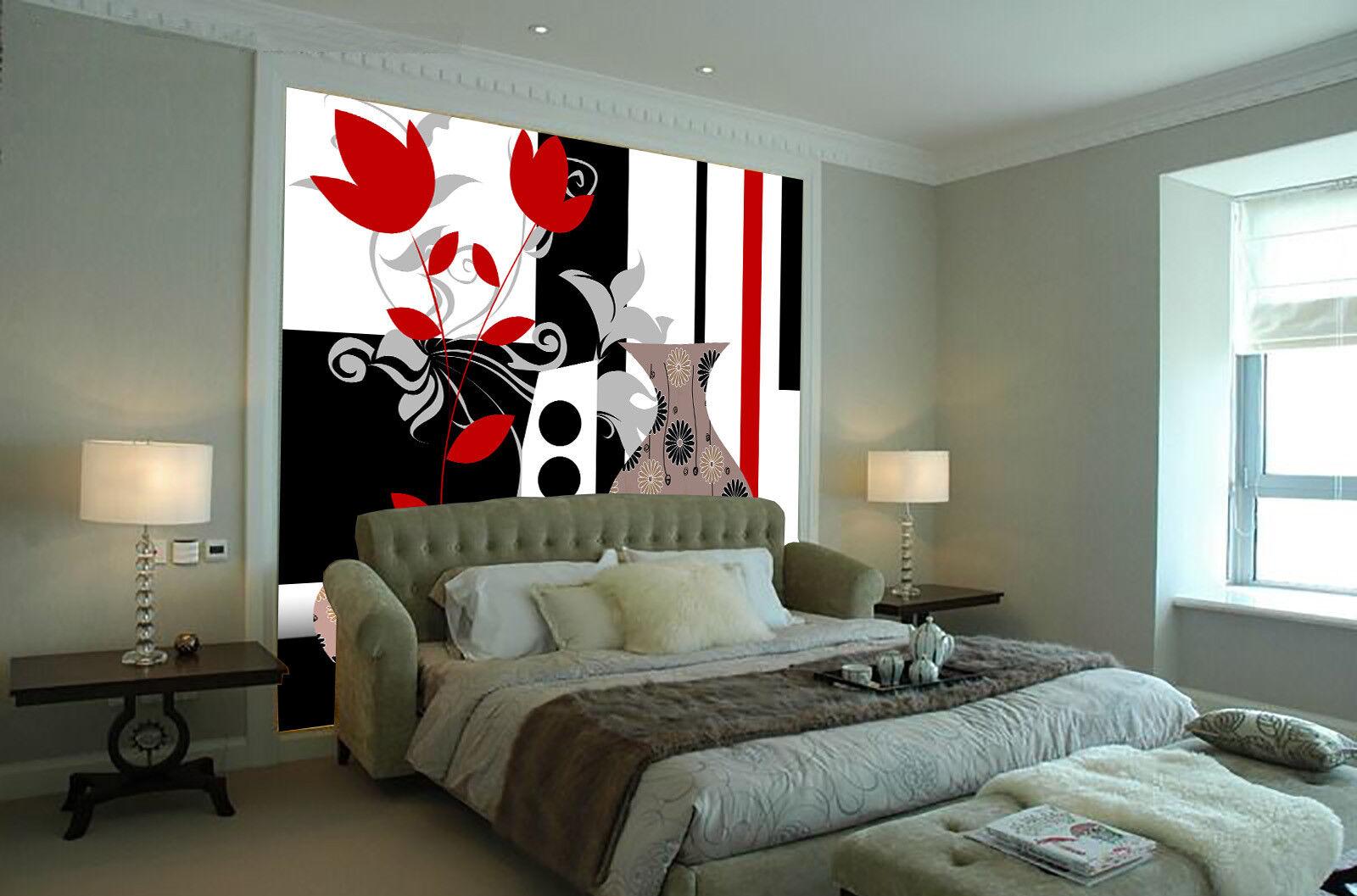 3D Vase Paint 4195 Wallpaper Murals Wall Print Wallpaper Mural AJ WALL UK Lemon