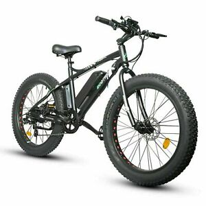"26""500W 36V12.5Ah FatTire Mountain Beach Electric Bicycle Bike e-Bike eBike LCD"