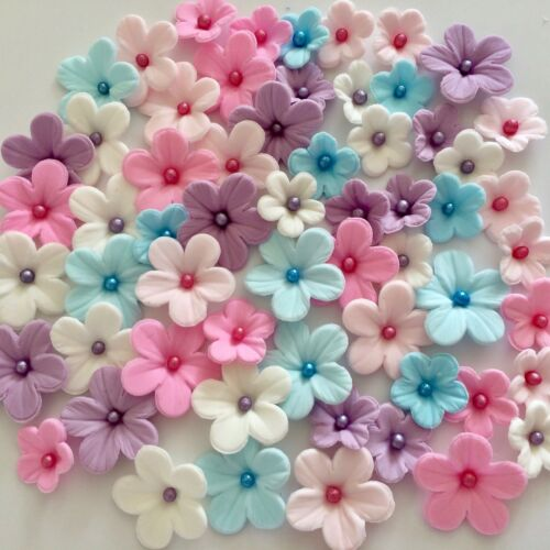 Unicorn Blossoms Edible Sugar Paste Flowers Cake Decorations Cupcake Toppers