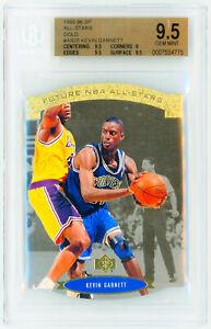 1995-SP-Basketball-All-Stars-039-GOLD-039-AS28-KEVIN-GARNETT-Rookie-Card-RC-BGS-9-5