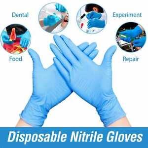 100x-guantes-de-latex-azul-de-vinilo-fuerte-en-polvo-Catering-Comida-Gratis-Caja-De-Seguridad