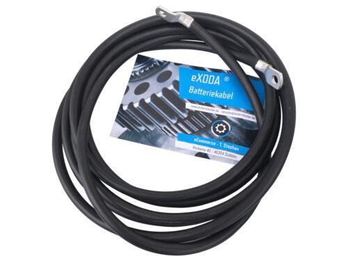 Batteriekabel 10 mm2 300cm mit Ringösen M6 schwarz Auto KFZ Ladegerät Kabel