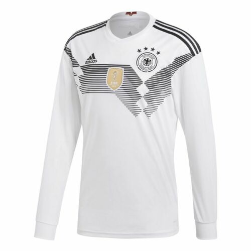 Adidas Cup World Home Soccer 2018 Jersey Ls Black Fifa White Germany Wc Aq1w7Agr