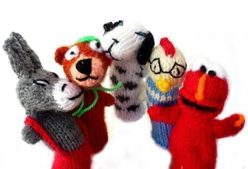 Lot 500 Finger Puppets Zoo-Handmade Marionetten & Handpuppen Hand Knit Toy Marionette
