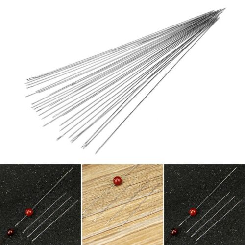 30pcs Wholesale Big Eye Beading Needles Easy Thread Jewellery Craft /& Handle