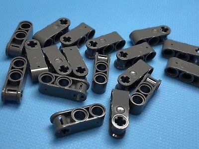 Lego 100 New Dark Bluish Gray Technic Axle and Pin Connector Perpendicular 3L