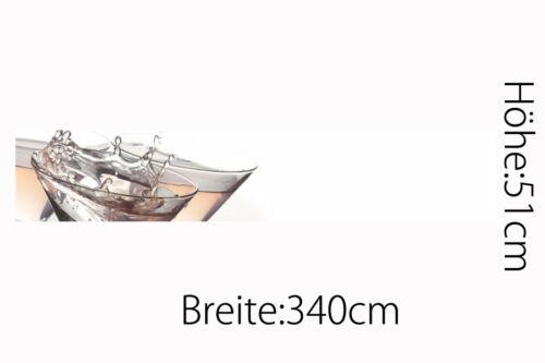 Küchenrückwand Luxus Sekt Glas Premium Hart-PVC 0,5 mm selbstklebend