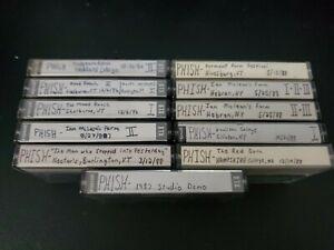 Phish-Cassette-Lot-Live-shows-11-Cassettes-1986-1988-VT-NY-MA-Rare-Studio-Demo