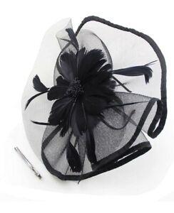 Fascinator-Hat-Feather-Cocktail-Headband-Clip-Royal-Derby-Headwear-Bridal