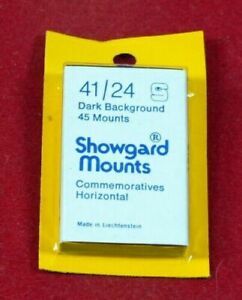 Showgard-Stamp-Mounts-Gard-Black-and-Clear-Choice-of-styles-and-sizes