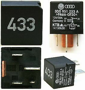 VW Passat Multifunction Relay Number 433 5 Pin 3D0951253A