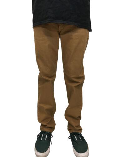 Rustic Dime Slim Fit Tobacco Denim Jeans Sizes 32-40