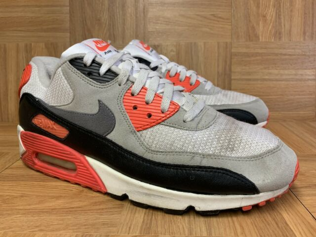 Nike Air Max 90 OG Sz 7 Infrared White Cool Grey Black 725233 106