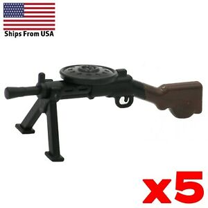 LEGO-Guns-DP-28-Machine-Gun-Lot-of-5-Painted-WWII-Russian-Army-Military-Weapon