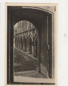 Melrose-Abbey-Processional-Doorway-To-Cloister-RP-Postcard-496a