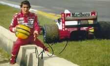 AYRTON SENNA FORMULA ONE F1 RACING CHAMPION SIGNED 12x8 INCH LAB PRINTED PHOTO