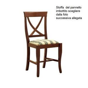 SEDIA IN LEGNO CLASSICA SOGGIORNO IMBOTTITA ARTE POVERA | eBay