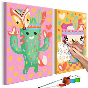 Details Zu Malen Nach Zahlen Für Kinder Leinwand Malset Mit Pinsel Wandbilder N A 0212 D R