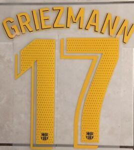 Flocage Nameset GRIEZMANN  #17 Barca 2019-2020 Domicile. La Liga.