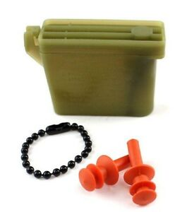 Military-Issue-Ear-Plugs-With-Storage-Case-USGI-Tactical-Earplugs-27-dB-Noise