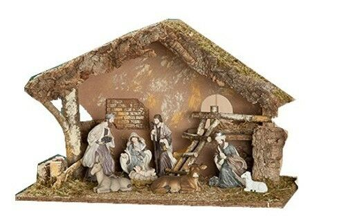 GILDE Holz Krippe Krippenstall Krippenzubehör - 34 x 56 56 56 x 36 cm - Weihnachtsdeko 17cadf