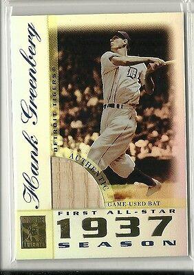 2003 Topps Tribute HANK GREENBERG Perennial All-Stars Game Used Bat Tigers