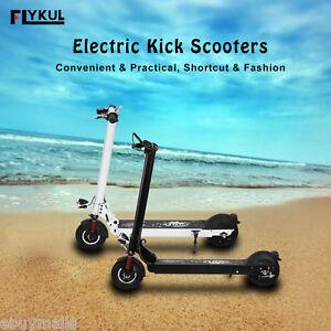 LED Scooter Trottinette Electrique Pliable 30km/h 100kg 350W 8800mAh Adulte Noir