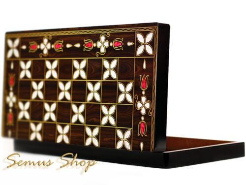 Orientalische BACKGAMMON TAVLA XXL Intarsien Look ANTEP Model B WARE