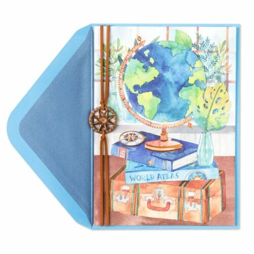 Gorgeous Papyrus Travel the World Blank Greeting  Card