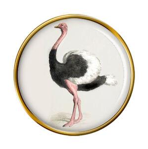 Ostrich-Lapel-Pin-Badge