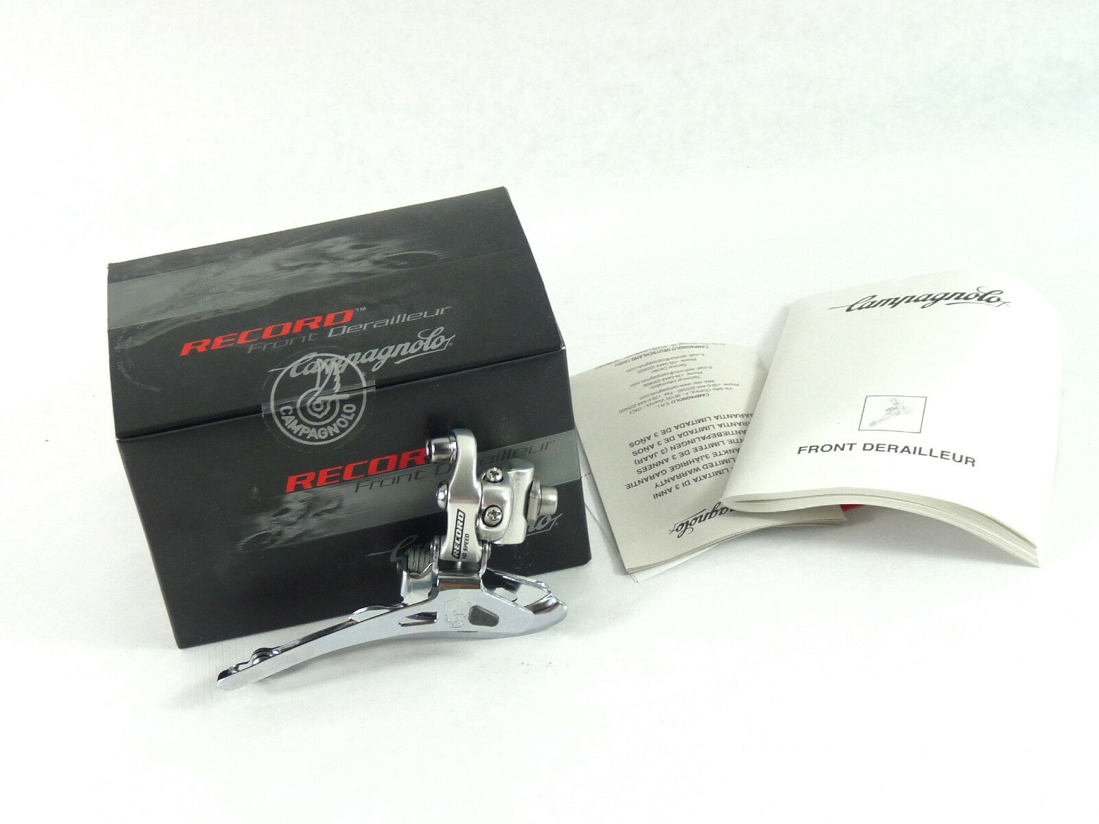 Campagnolo Record Derailleur  Front Alloy Braze on 10 speed Racing Bicycle NOS  the cheapest