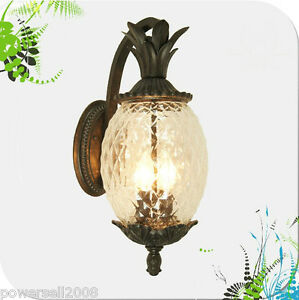 European-Style-Outdoor-Pineapple-Shape-Glass-Aluminum-1-Light-Garden-Wall-Lamp