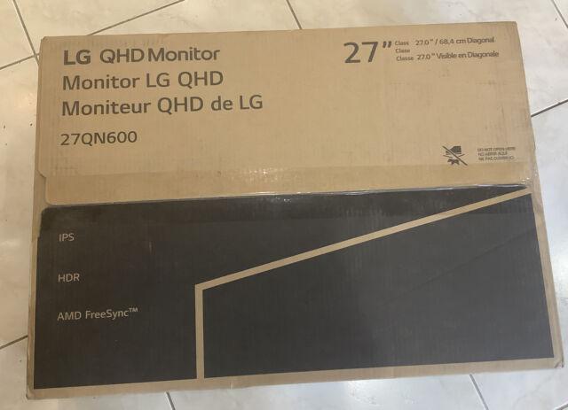 "LG 27QN600-B 27"" QHD 2560x1440 IPS Monitor with AMD FreeSync, HDR10"