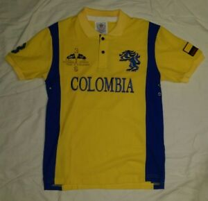 reputable site 27486 e72a2 Details about NWT WORLD CUP AMERICAN RANGER POLO COLOMBIA SOCCER SHIRT MENS  YELLOW MEDIUM