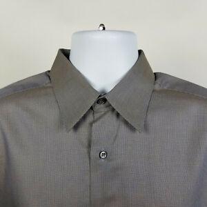 Ermenegildo Zegna Mens Brown Dress Button Shirt Size 16/41