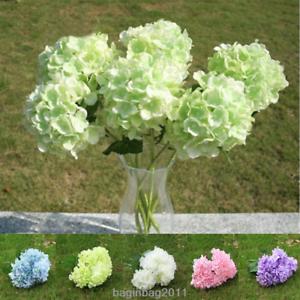 6-Koepfe-1-Bund-kuenstliche-Blumenstrauss-Hortensie-Party-Home-Hochzeit-Dekor