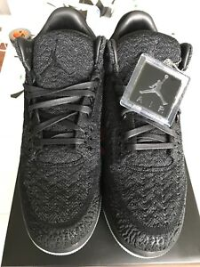 866f8cbd016b2 Image is loading Nike-Air-Jordan-3-Flyknit-Black-Men-039-