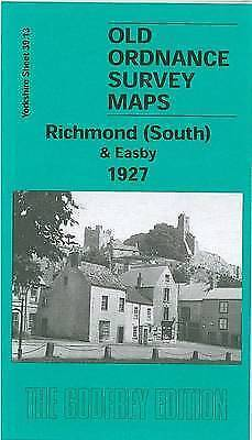 OLD ORDNANCE SURVEY MAP Richmond South and Easby 1927: Yorkshire Sheet 39.13