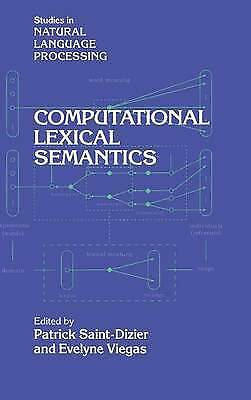 Computational Lexical Semantics (Studies in Natu, , New