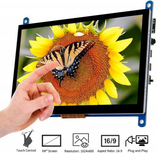 "10/"" HD Capacitive TouchScreen Display Monitor HDMI USB Raspberry Pi Programming"