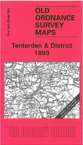 OLD ORDNANCE SURVEY MAP TENTERDEN 1893 CRANBROOK GOUDHURST HAWKHURST TICEHURST