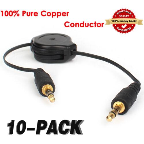 3.5mm Jack Plug To Plug Male Cable Audio Lead For Headphone//Aux//MP3 2//3//5//10Pcs