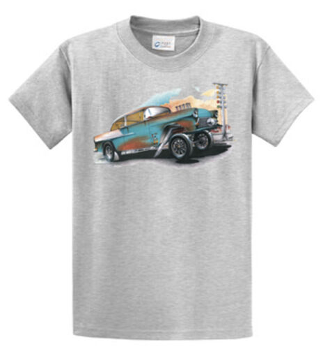 Brent Gill Car Blue Gasser Racer Graphic Tees Reg Big and Tall Size Port /& Co