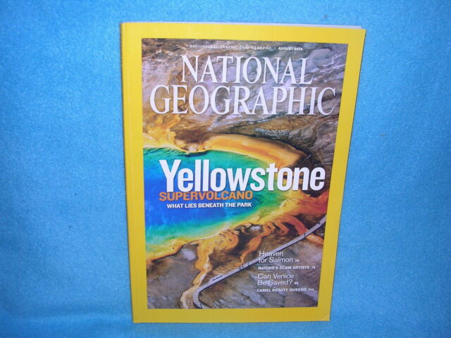 National Geographic August 2009 Yellowstone Supervolcano  FREE SHIPPING