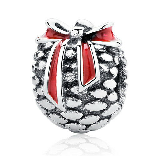 Christmas 1pcs Silver European Charm Beads Fit 925 Necklace Bracelet Chain DIY