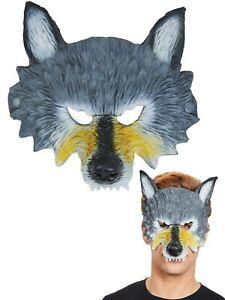 Hommes-Loup-Demi-Masque-Adultes-Halloween-Loup-Garou-Deguisement-Animal-Horreur