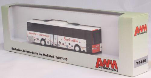 "AWM 73446 Mercedes Travego /""Saarland Luxembourg/"" SaarLuxBus Linienbus 1:87"