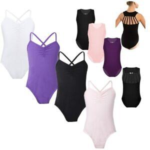 Girls-Gymnastics-Leotard-Toddler-Ballet-Dress-Strappy-Back-Bodysuit-Dancewear
